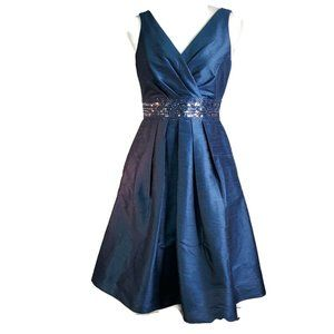 JS Boutique Women Formal Cocktail Dress Sz 6 Blue